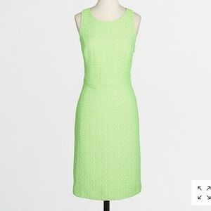 J. Crew neon tweed racerback dress